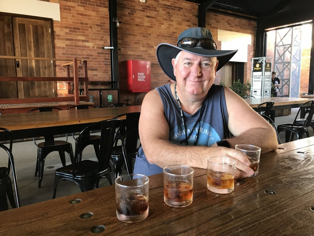 Al at the taste testing, Bundaberg Rum Distillery