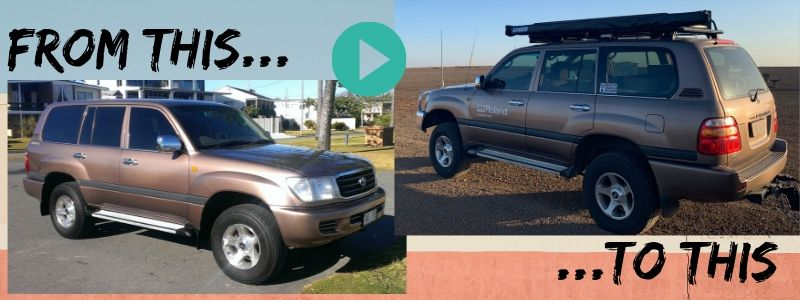 Before and after photos of Landcruiser
