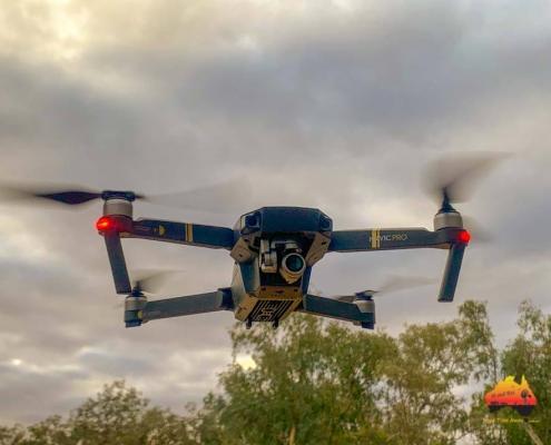 Drone in flight, Eulo
