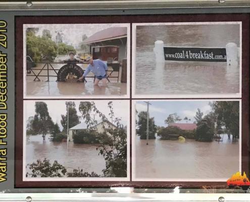 Warra during flood