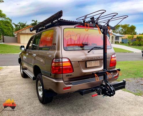 Shingleback bike rack on Landcruiser
