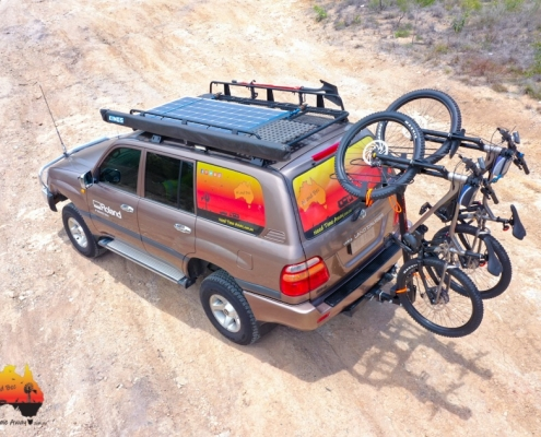 Merida bikes on Shingleback Bike Rack