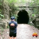 Al at the tunnel at Dularcha National Park