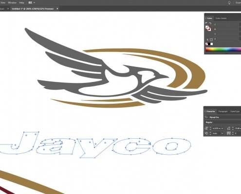 Designing the Jayco caravan graphics