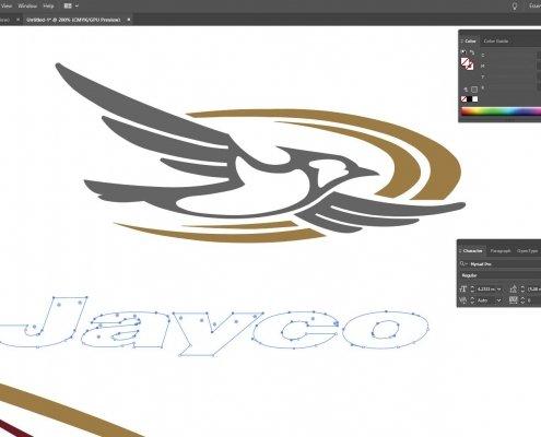 Designing the Jayco caravan graphics