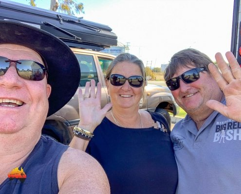 Meeting up with friends at Biloela